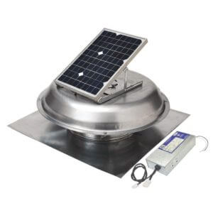 Solar hybrid Attic Fan