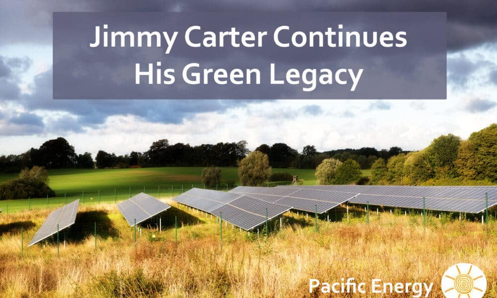 Jimmy Carter Creates 10-Acre Solar Farm