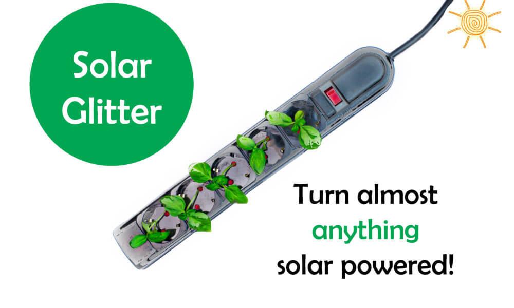 """Solar Glitter"" Makes Virtually Anything Solar Powered"