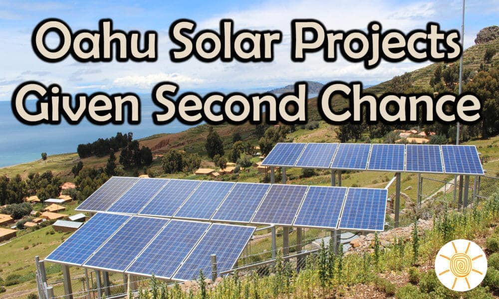 Old Solar Projects Given New Start On Oahu
