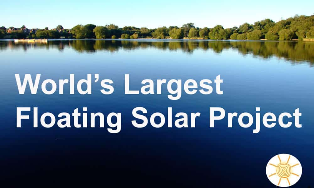 World's Largest Floating Solar Farm