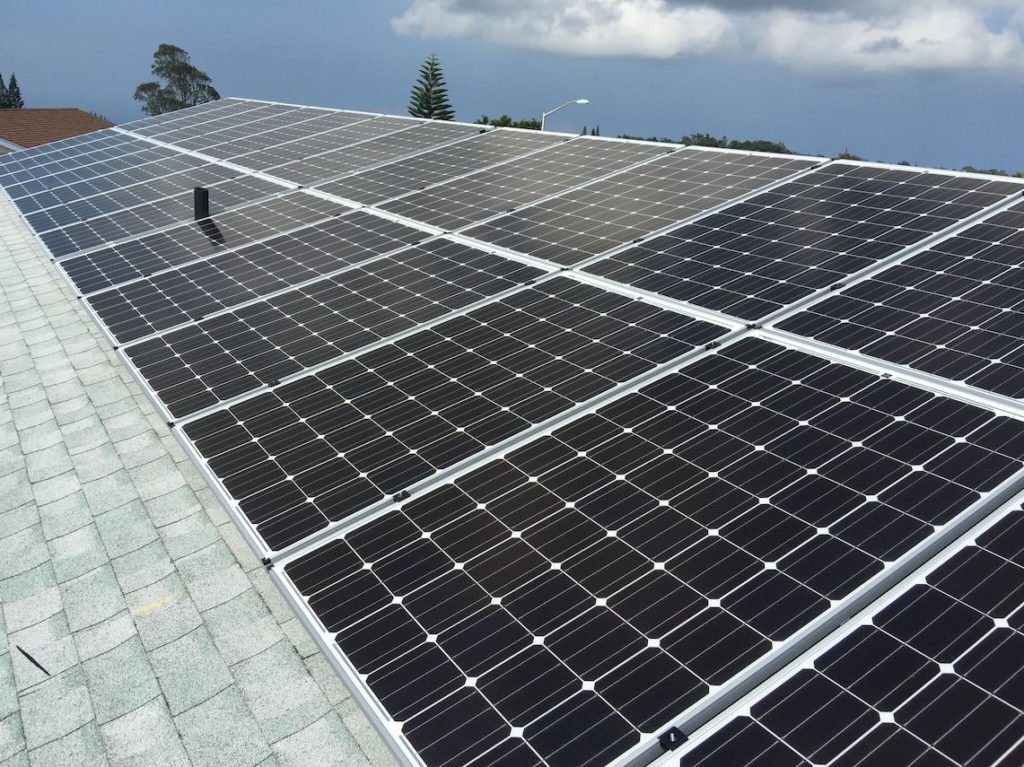 Solar energy panels on Maui 2